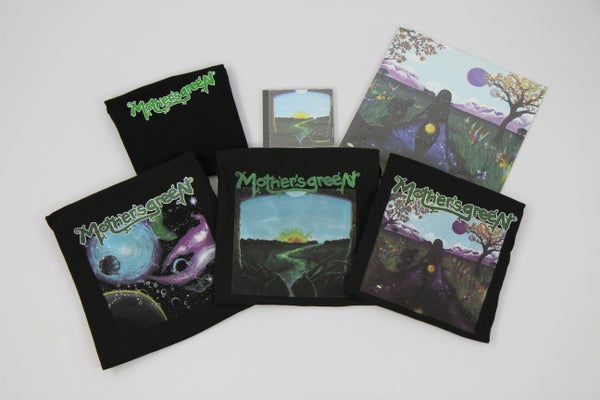 Image of MOTHER'S GREEN SWIMMING IN THE SUN DOUBLE GATEFOLD VINYL 180G/CD COMBO WITH SELF TITLED MOTHER'S GRE