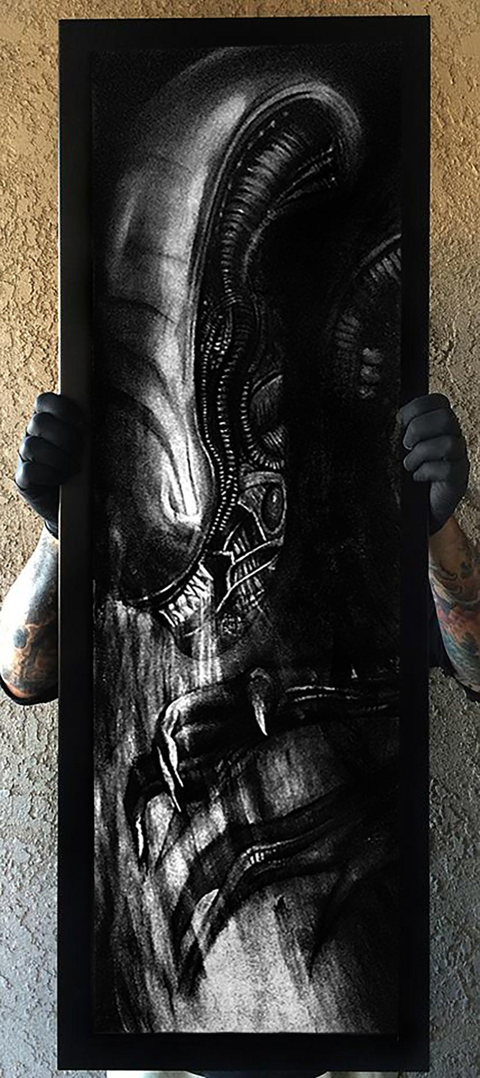 Image of Alien Original art