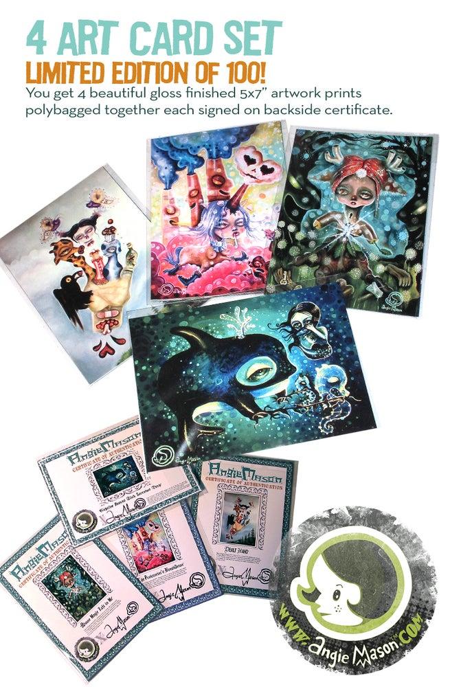 Image of 4 Postcard Set LTD Ed. 100