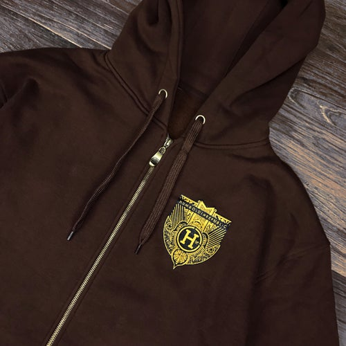 "Image of ""Blacktail"" Men's Heavyweight Zip Up Hoodie"