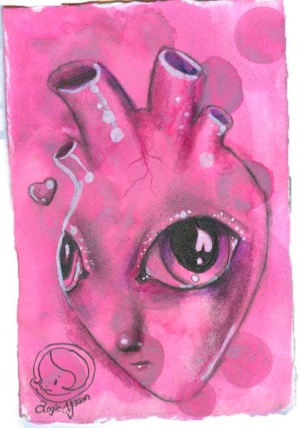 Image of 'My Alien Heart' Original Art