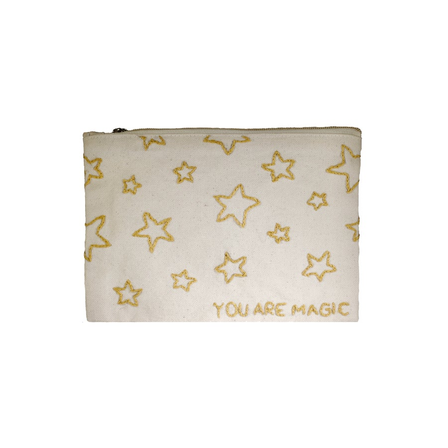 Image of Small Embroidered Pouch