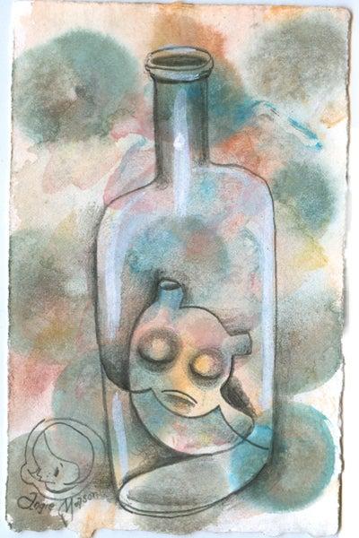 Image of Bottle Blueser - original drawing