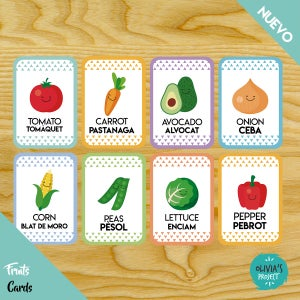 Image of Vegetables Cards Bilingües