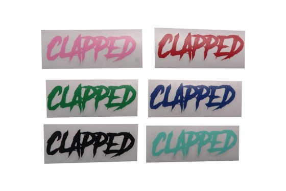Image of 5 Clapped VINYL Stickers