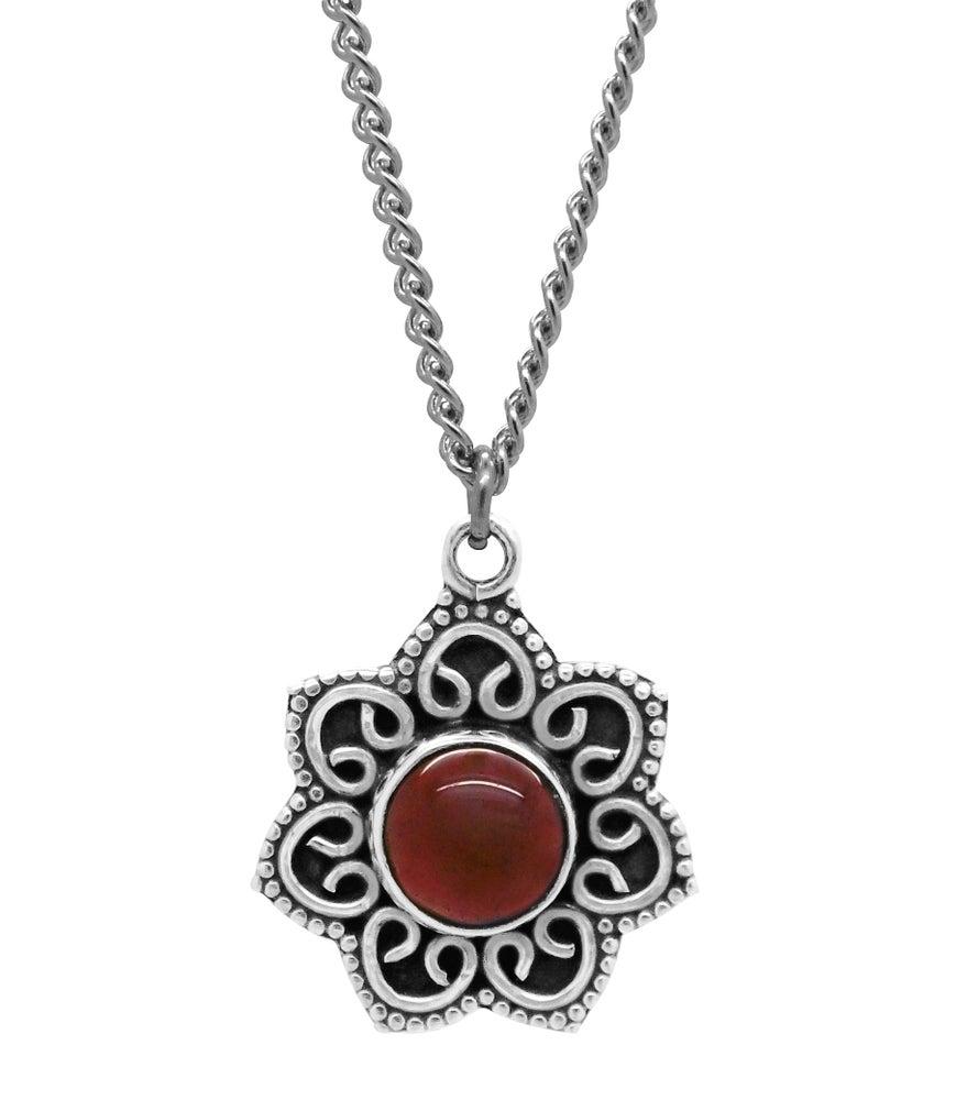 Image of Garnet Fleur Necklace