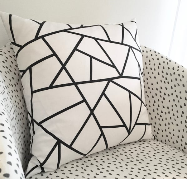 Image of Geometry Black and White Cushion Cover