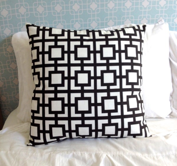 Image of Mod Squares Black and white Cushion Cover