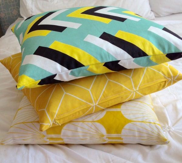 Image of Aqua Arrows Cushion Cover