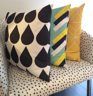 Image of Aqua Arrows Cushion Cover