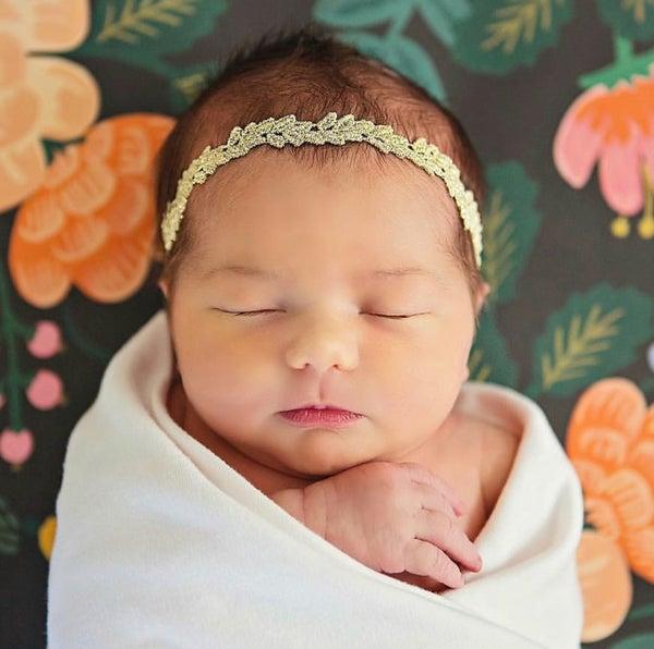 Image of Isla Gold Lace Headband