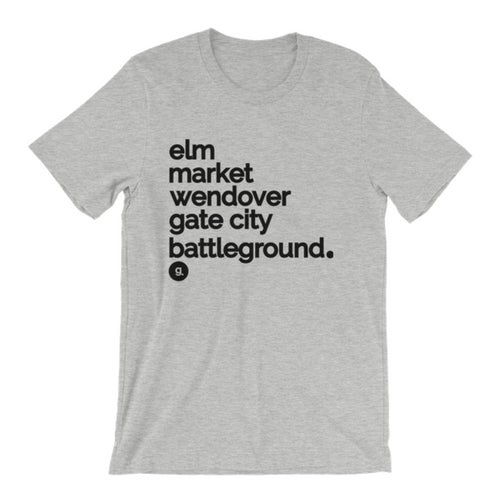 Image of Greensboro Street Names Tee