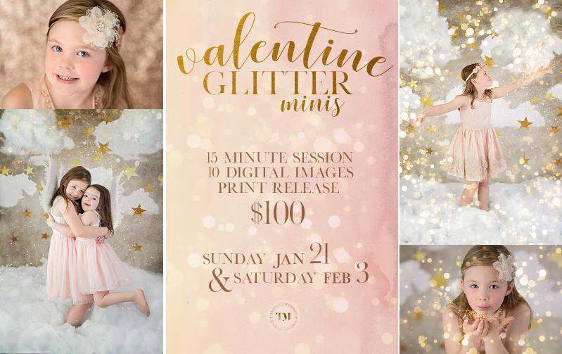 Image of Valentine Glitter Minis