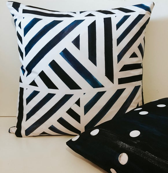 Image of Midnight Stripe Cushion Cover