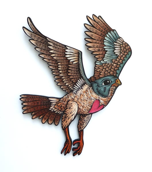 Image of Commissioned Painted Carvings