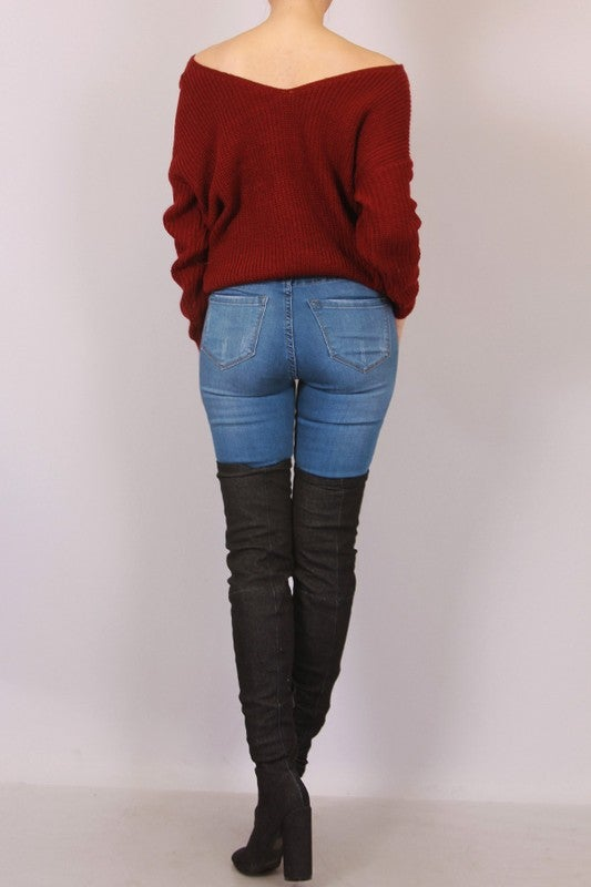 Image of Burgundy Pearl Sweater