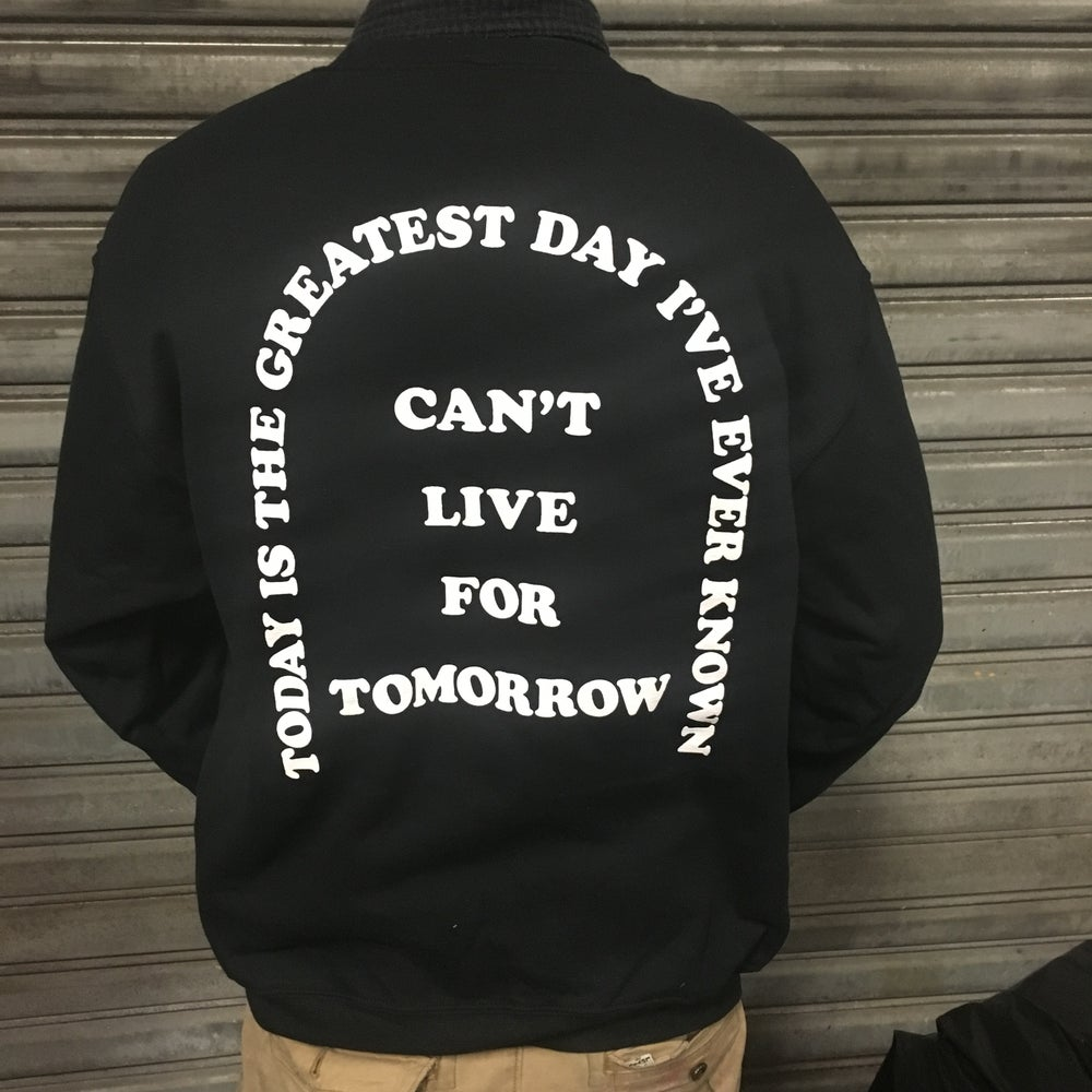 Image of Can't live - black crewneck sweatshirt