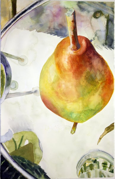 """Image of 40"""" x 26"""" watercolor paintings"""