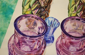 "Image of 40"" x 26"" watercolor paintings"