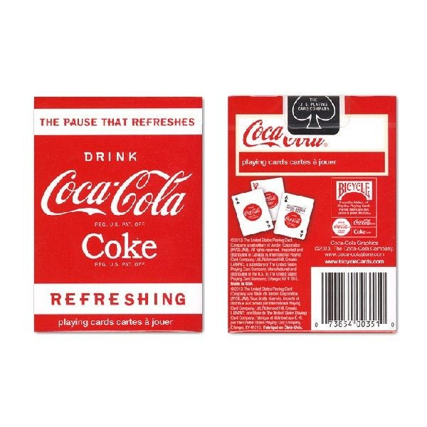 """Image of """"COCA-COLA"""" BICYCLE PLAYING CARD"""
