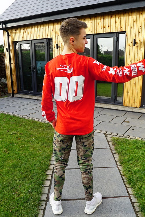 Image of Red Troopa Emblem Long Sleeve Tee!