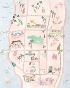 Image of Palm Beach Map Print