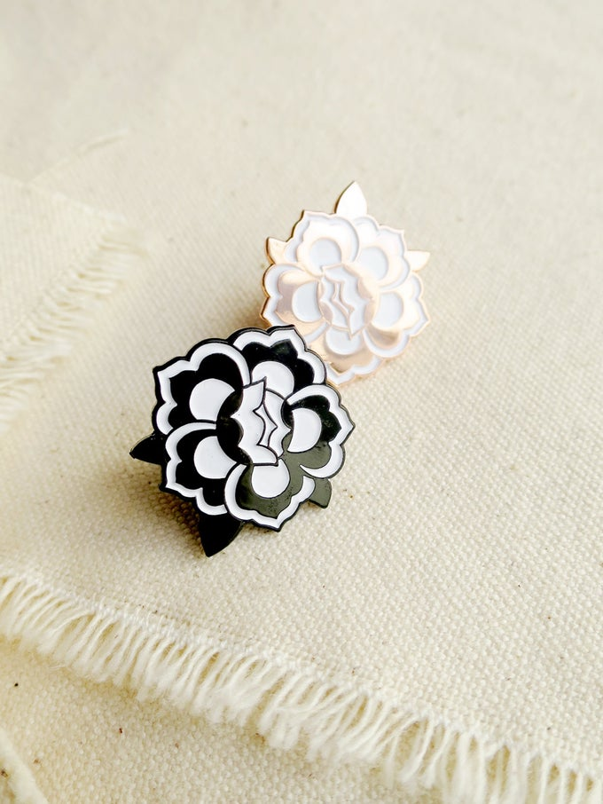 Image of Floral Medallion Enamel Pin