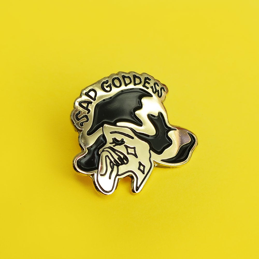 Image of Sad Goddess Enamel Pin