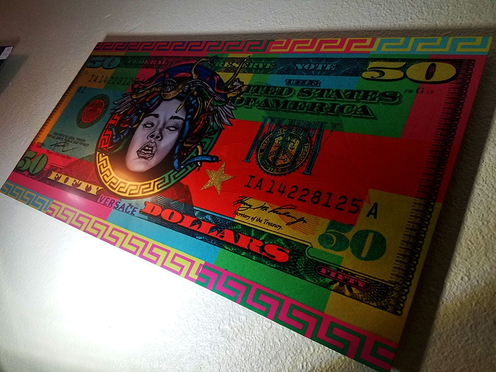 Image of Versace Money and Original bill stacks