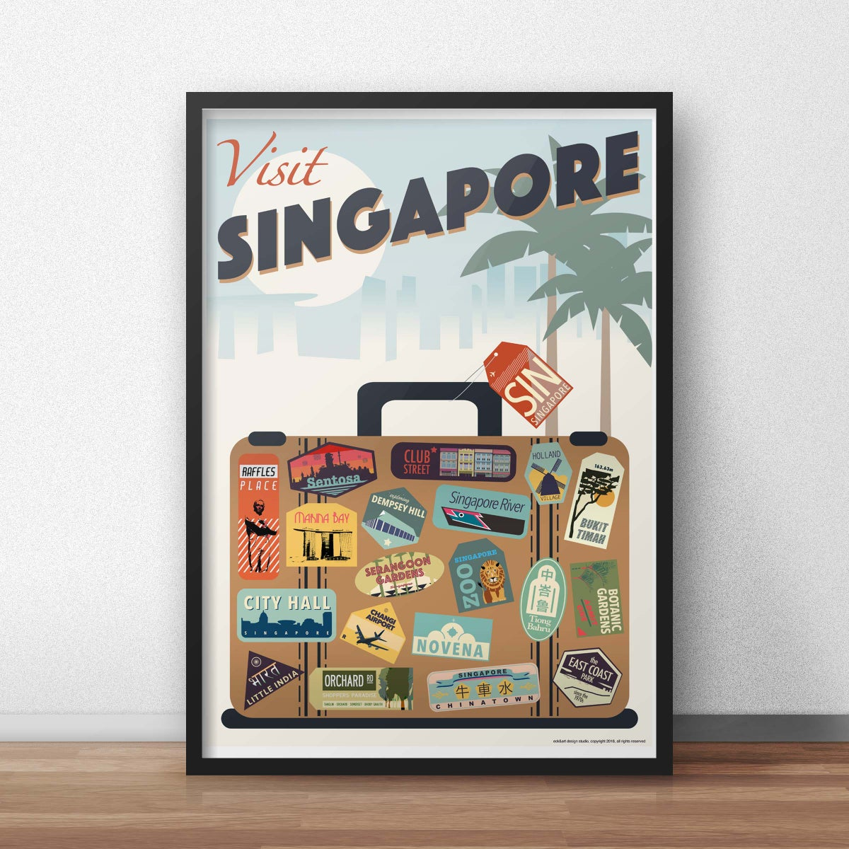 Image of Singapore Suitcase Poster