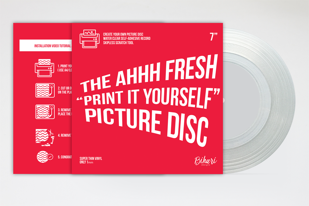 """Image of The Ahhh Fresh """"Print It Yourself"""" Picture Disc by Bihari"""