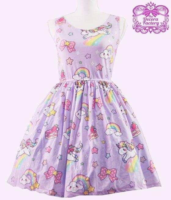 Image of KIRA KIRA! Star Unicorn Dress in Lavender