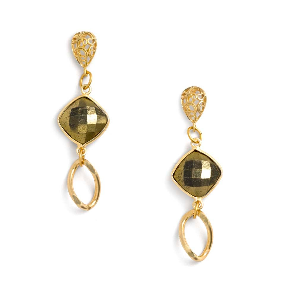 Image of PALM DESERT PYRITE EARRINGS