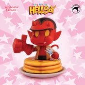 Image of The 50/50 Club: Limited Edition itty bitty Hellboy mini bust w/sweet bonus signed print!