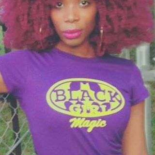 Image of BLACK GIRL (Batgirl) MAGIC / Purple tee