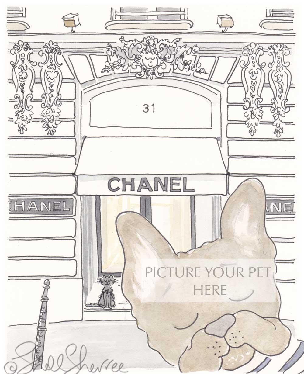Image of Pet Portrait with Chanel Paris Setting