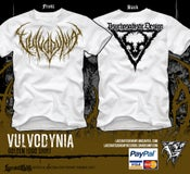 Image of VULVODYNIA - Psychosadistic Design LOGO Tshirt (GOLD)