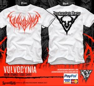 Image of VULVODYNIA - Psychosadistic Design LOGO Tshirt (Neon Orange)
