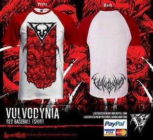 Image of VULVODYNIA - Baseball RED Tshirt