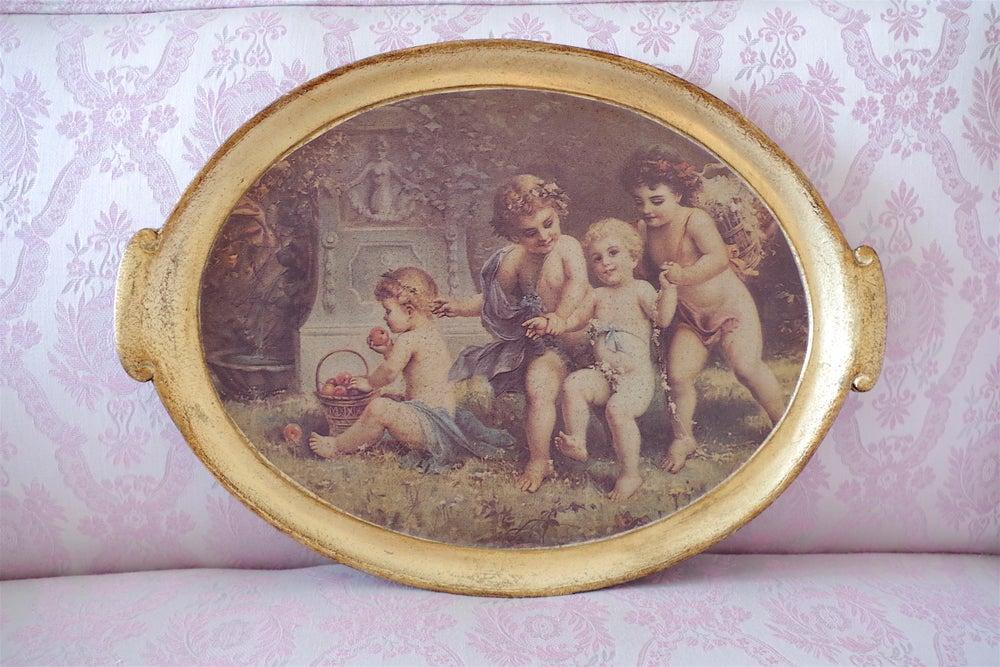 Image of Italian Putti Tray