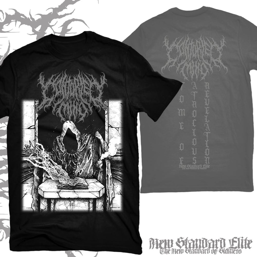 """Image of CONTORTED MIND """"TOME OF ATROCIOUS REVELATION"""" T-SHIRT"""