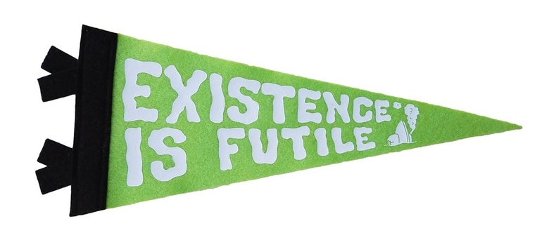 Image of Existence is Futile Away Team Mini Pennant