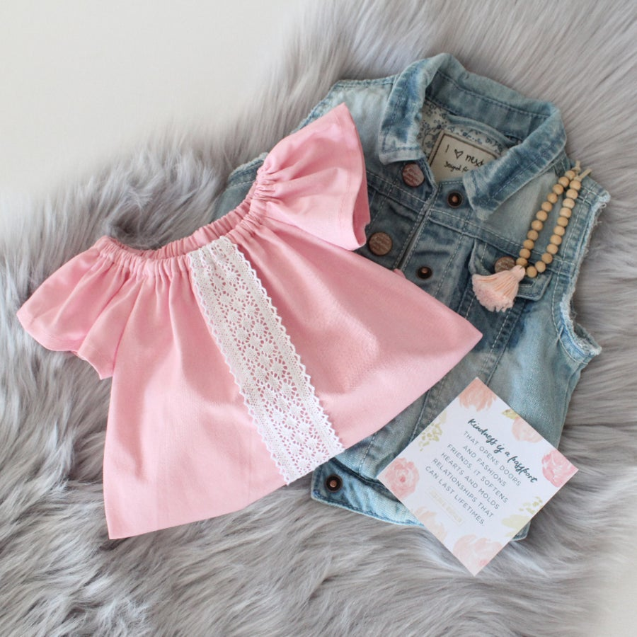 Image of Pink Luxe Lace Romper