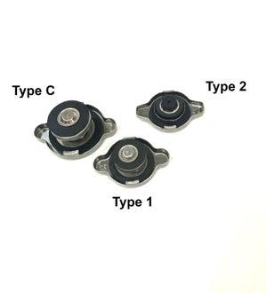 Image of Chasing Js Type C 1.3 Bar Radiator cap to fit larger hole radiator (Titanium)