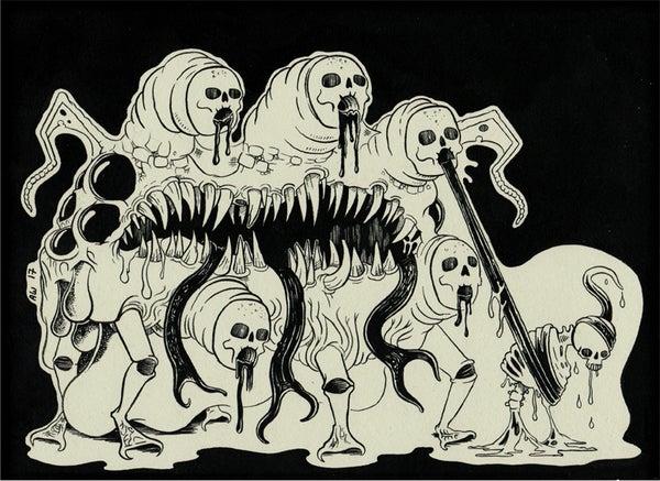 Image of Assorted Hellspawn:  Atrocious Hellspawn A4 print