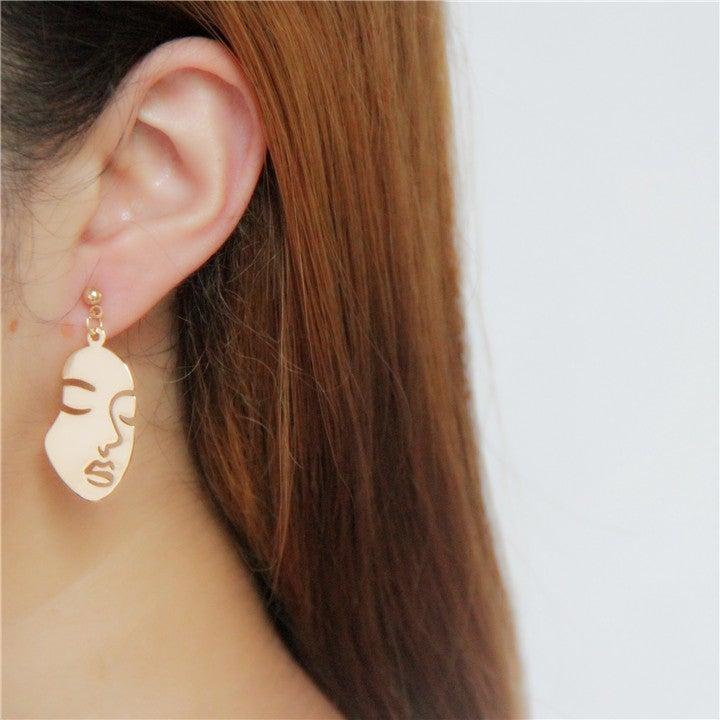 Image of IDGAF FACE EARRINGS