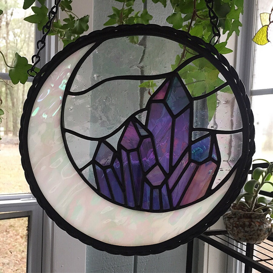 Image of Amethyst Crystal Moon