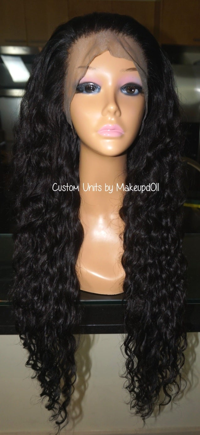 """Image of Cambodian Natural Wave 26"""" Custom Lace Frontal Wig!"""