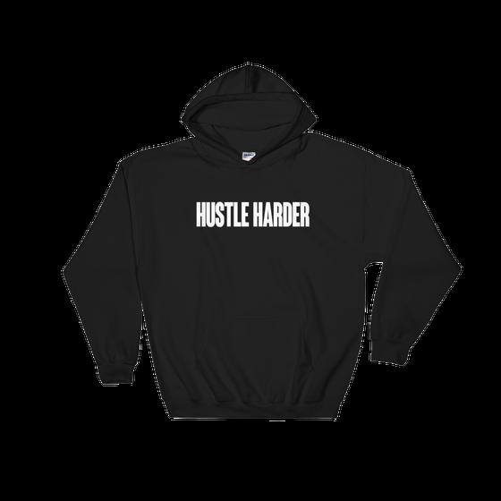 Image of HUSTLE HARDER HOODIE - BLACK