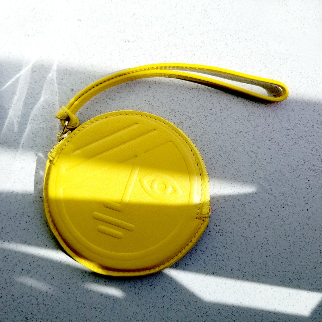 Image of Yellow Phase / Black Eclipse Round Coin Purse